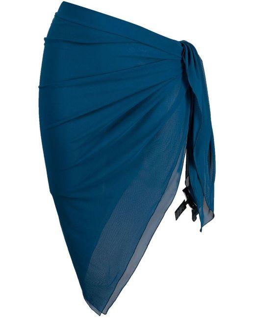 Fisico Blue Slim-fit Midi Sarong