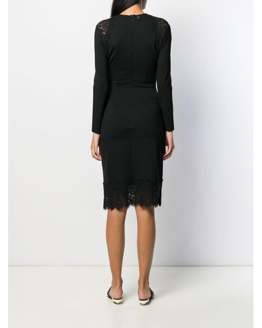 Twin Set Vネック ドレス Black
