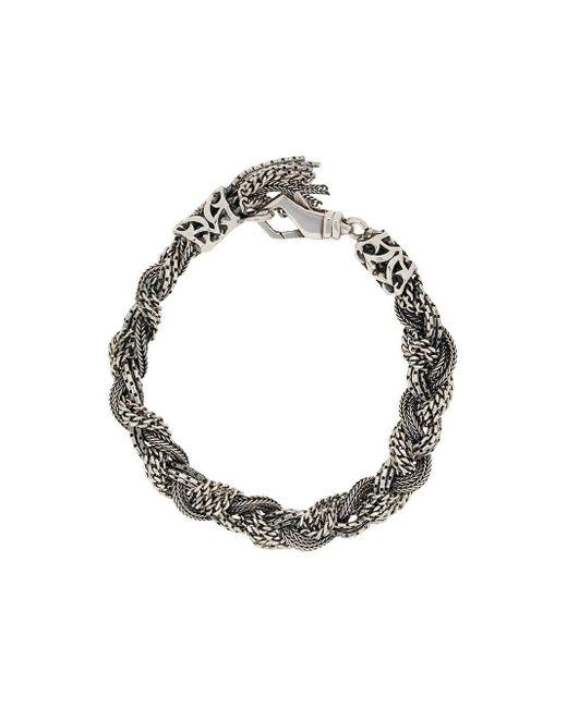 Emanuele Bicocchi Metallic Braided Bracelet
