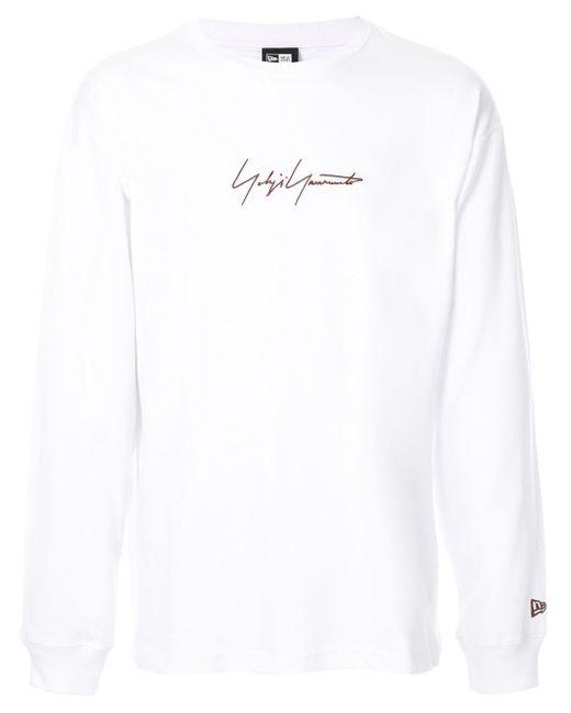 メンズ Yohji Yamamoto ロゴ スウェットシャツ White