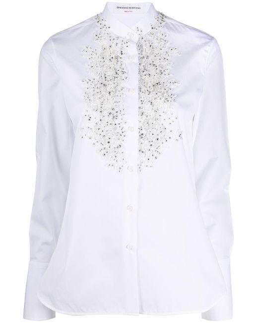 Ermanno Scervino ビーズ レースシャツ White