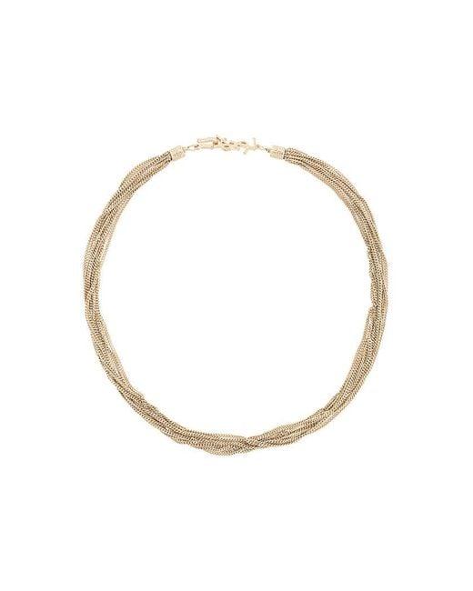 Saint Laurent - Metallic Loulou Twisted Necklace - Lyst
