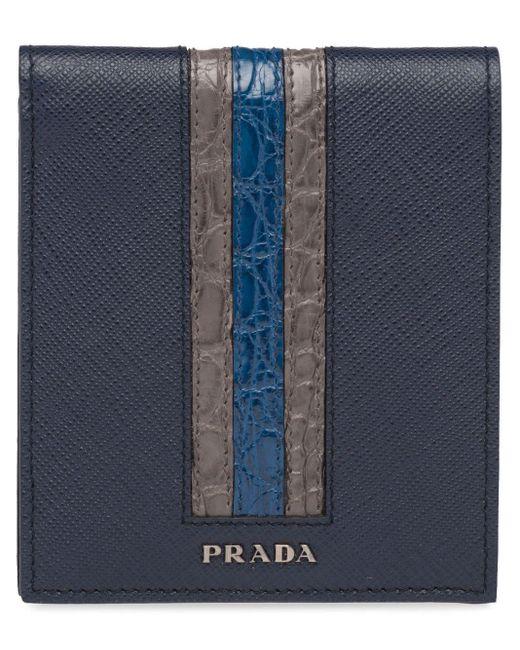 メンズ Prada 二つ折り財布 Blue