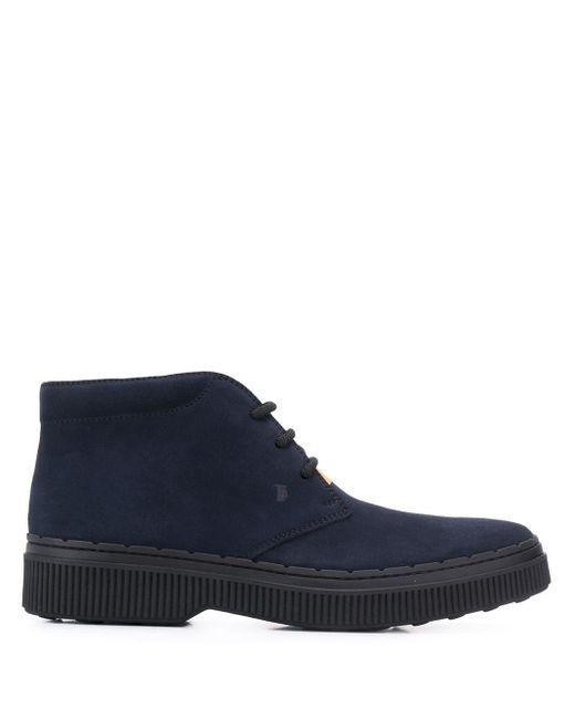 Ботинки На Шнуровке Tod's для него, цвет: Blue