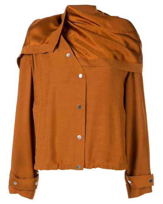 3.1 Phillip Lim リムーバブル スカーフジャケット Multicolor