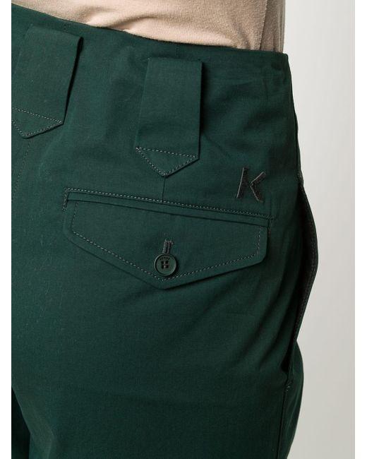 KENZO ハイライズ ストレートパンツ Green