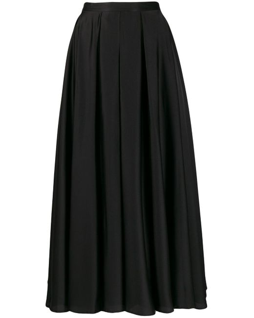 Blanca Vita Aライン プリーツスカート Black