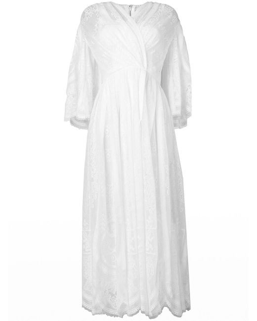 Dolce & Gabbana レース フレアドレス White