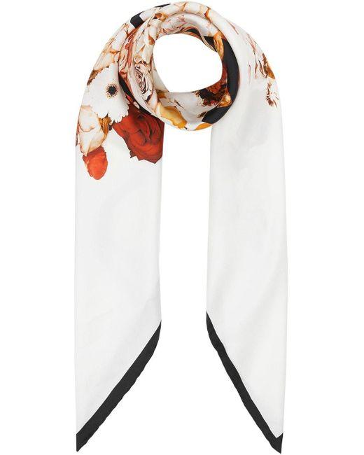 Burberry フローラル スカーフ Multicolor