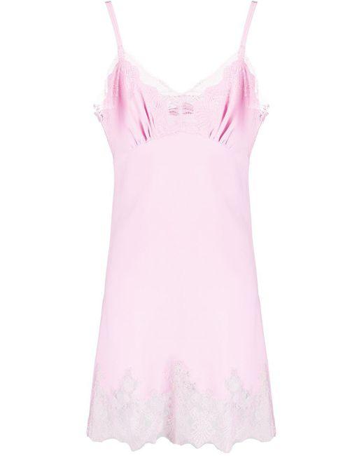 Ermanno Scervino レースパネル シフトドレス Pink