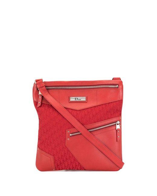 Dior プレオウンド トロッター ショルダーバッグ Red