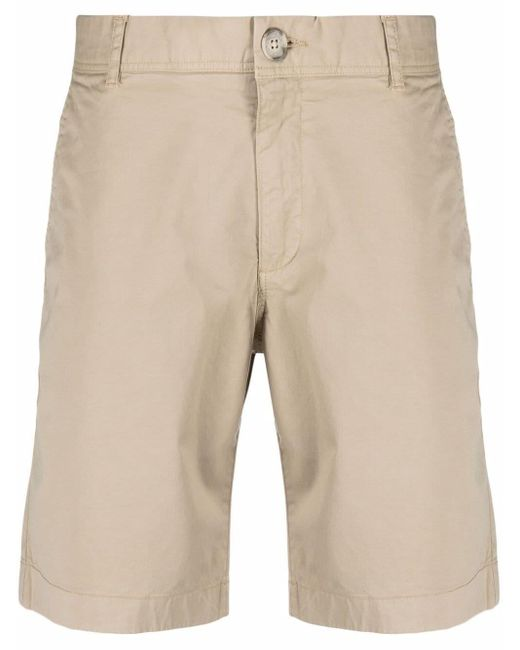 Woolrich Natural Stretch-cotton Chino Shorts for men