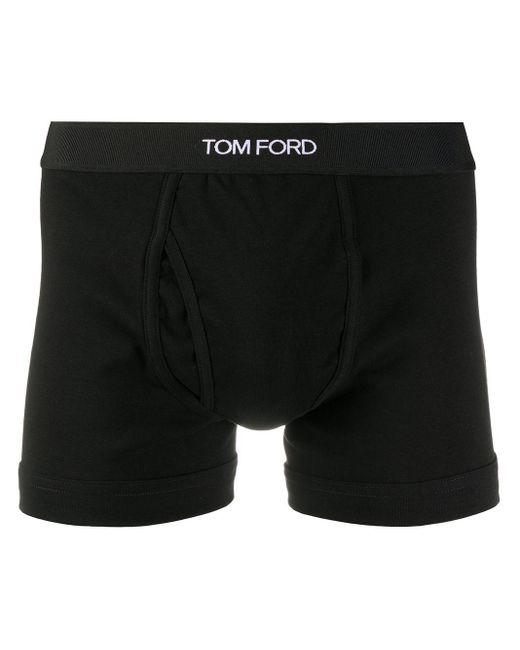 メンズ Tom Ford ロゴ ボクサーパンツ Black