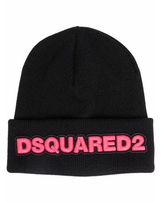 Шапка Бини С Вышитым Логотипом DSquared², цвет: Black