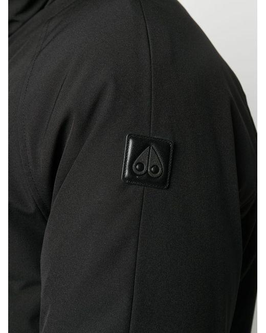 メンズ Moose Knuckles フーデッド ダウンジャケット Black