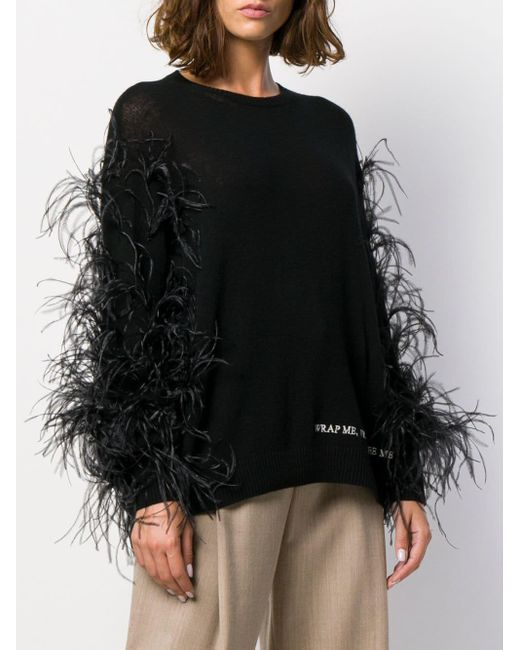 Valentino Black 'Wrap Me. Free Me. See Me' Pullover
