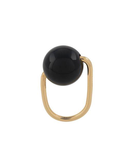 Bague à design perlé Marni en coloris Metallic
