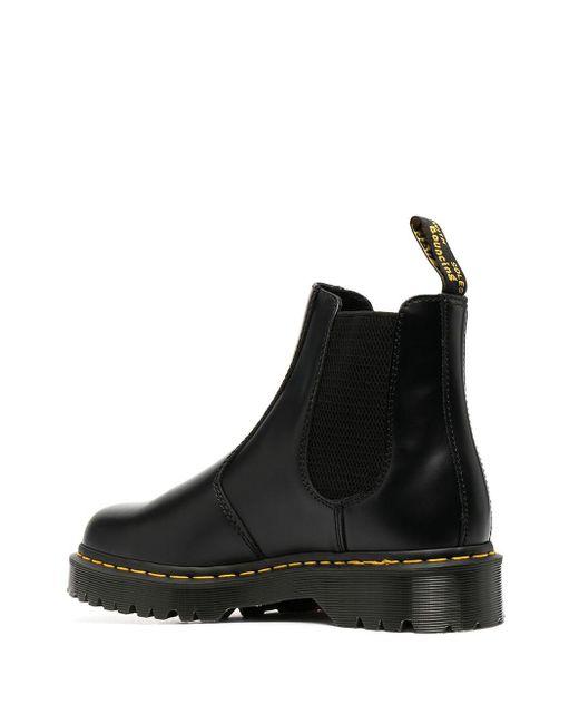 Черные Ботинки С 8 Парами Люверсов 1460-черный Dr. Martens для него, цвет: Black