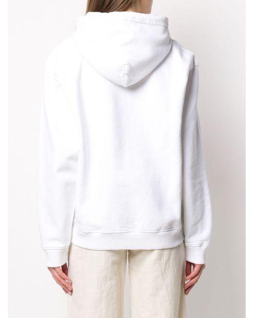 Худи С Логотипом Acne, цвет: White