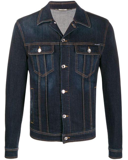 メンズ Dolce & Gabbana ロゴ デニムジャケット Blue