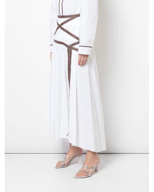 Gonna lunga Applesauce Criss Cross di Rosie Assoulin in White