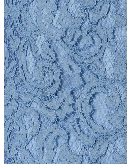 Кружевная Юбка-карандаш Martha Medeiros, цвет: Blue