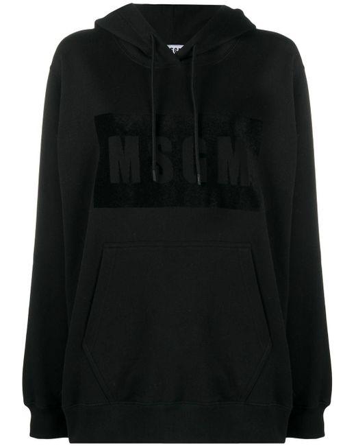 MSGM プリント パーカー Black