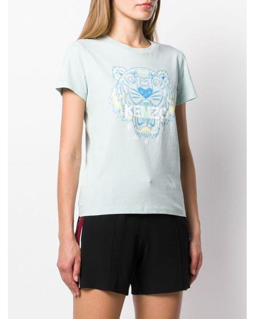 KENZO タイガー プリント Tシャツ Blue