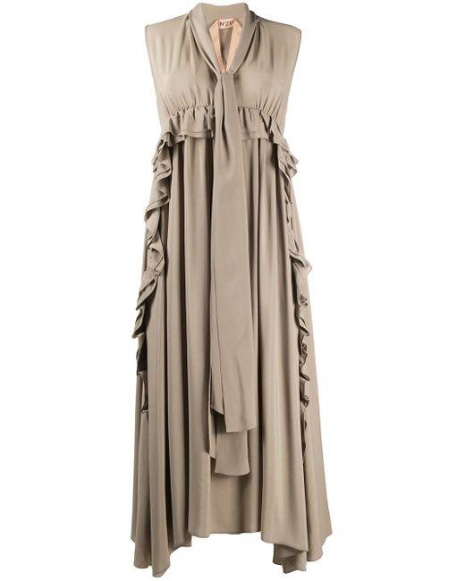 N°21 ラッフル ドレス Gray