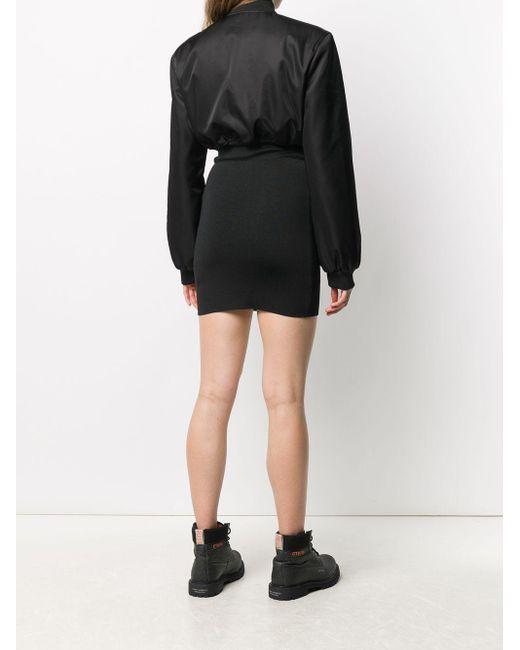 Heron Preston ボンバージャケットドレス Black