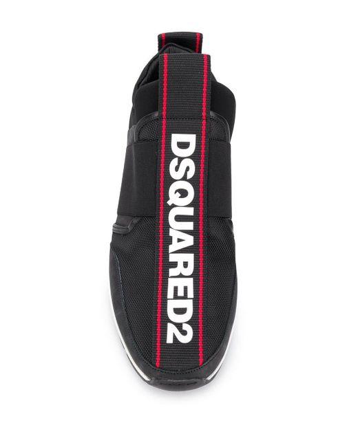 メンズ DSquared² ロゴ ローカットスニーカー Black