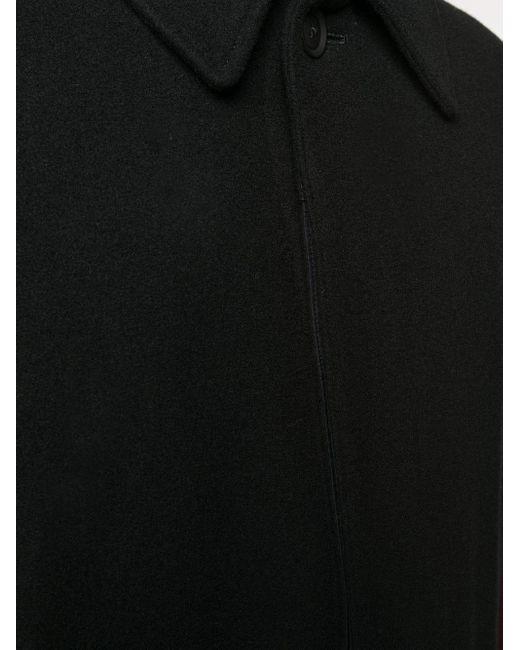 メンズ Yohji Yamamoto フレアコート Black
