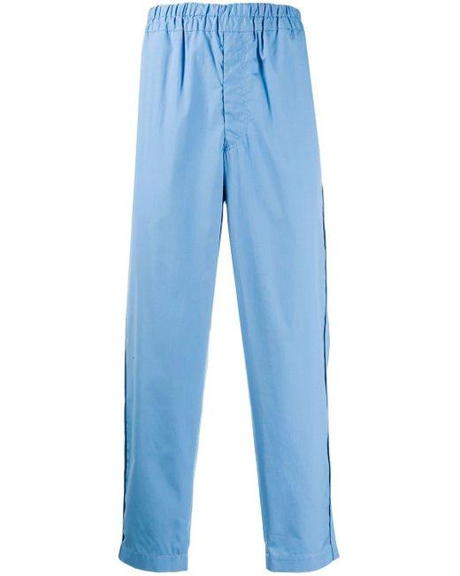 Comme des Garçons Blue Straight-leg Cotton Trousers for men