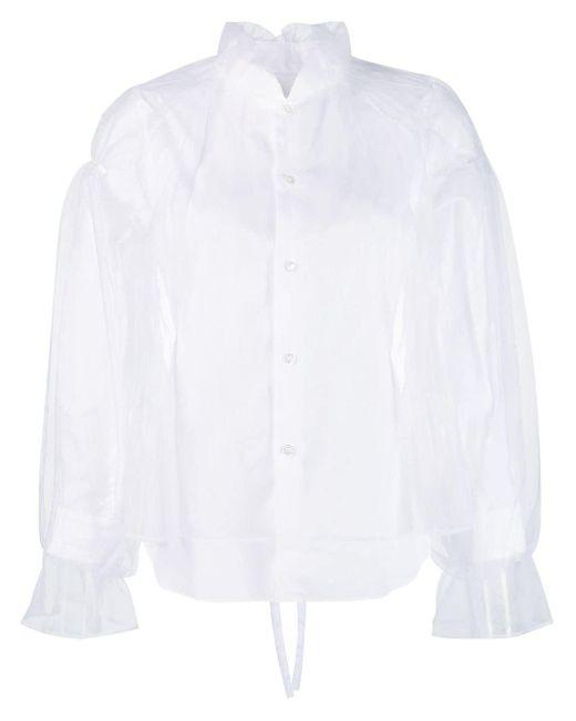 Comme des Garçons チュールレイヤー シャツ White
