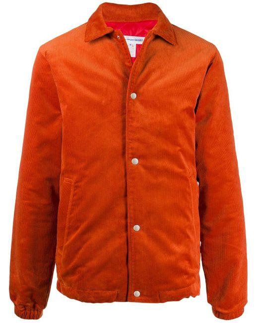 メンズ Comme des Garçons スナップボタン ジャケット Orange