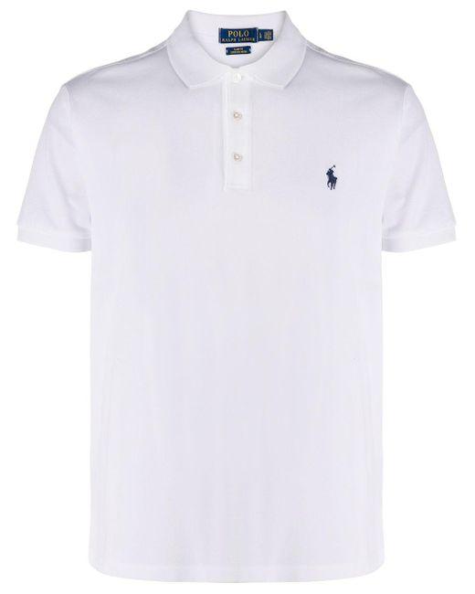メンズ Polo Ralph Lauren ピケ ポロシャツ White