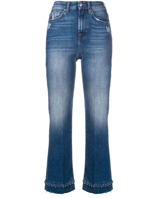 7 For All Mankind クロップド ジーンズ Blue