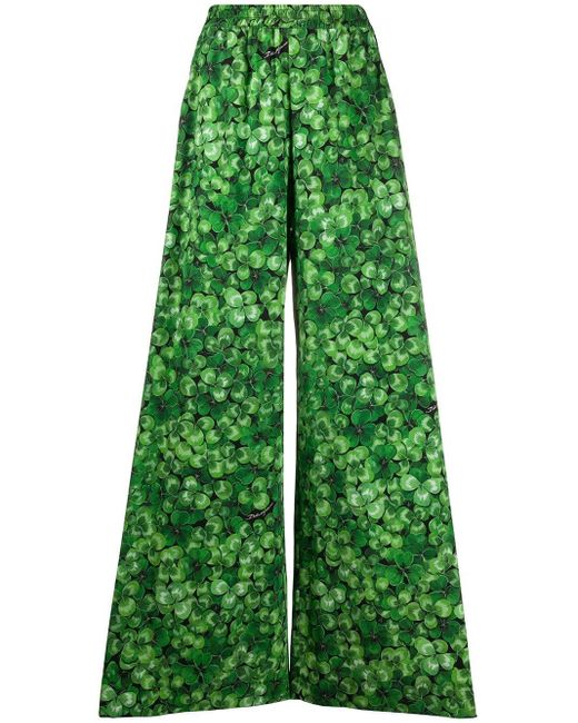 Брюки Широкого Кроя С Принтом Dolce & Gabbana, цвет: Green