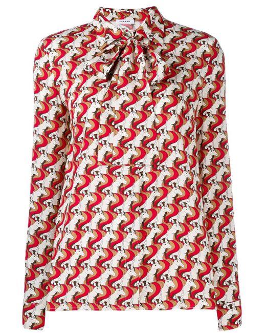 P.A.R.O.S.H. Blusa con estampado geométrico de mujer de color rojo iqKHB
