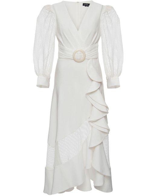 PATBO ベルテッド ドレス White