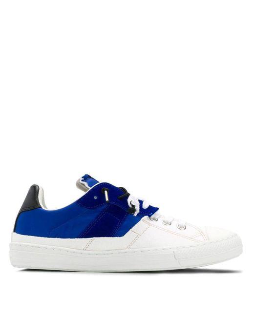 Maison Margiela White Two Tone Sneakers for men