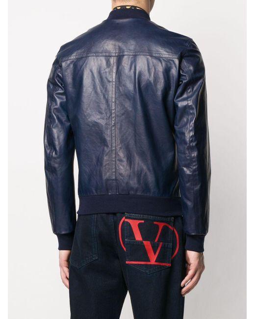 Куртка-бомбер На Молнии Dolce & Gabbana для него, цвет: Blue