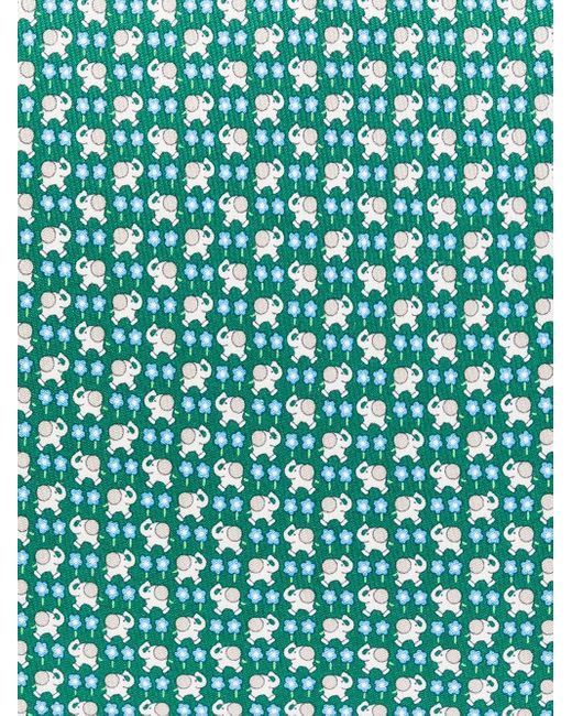 Галстук С Вышивкой Ferragamo для него, цвет: Green