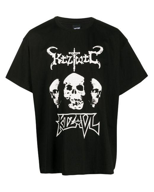 KTZ Camiseta con estampado gráfico de mujer de color negro