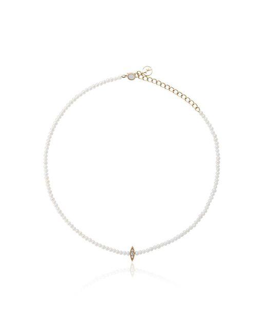 Anissa Kermiche White 14kt Rose Gold Perle Rare Pearl And Diamond Choker