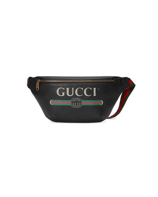 gucci print leather belt bag pantip