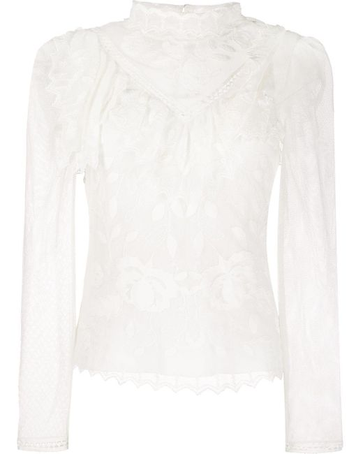 See By Chloé ファンネルネック ブラウス White
