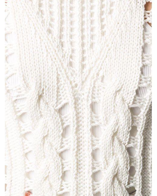 Courreges オープンニット セーター White