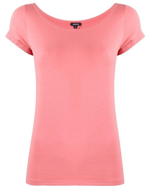 Aspesi スクープネック Tシャツ Pink