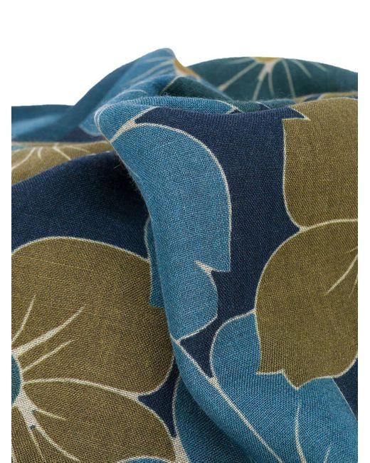 メンズ Dell'Oglio フローラル スカーフ Blue